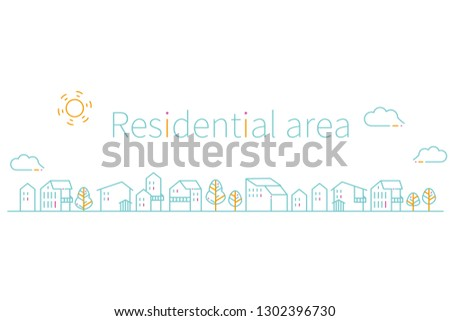 residential area of   3 color