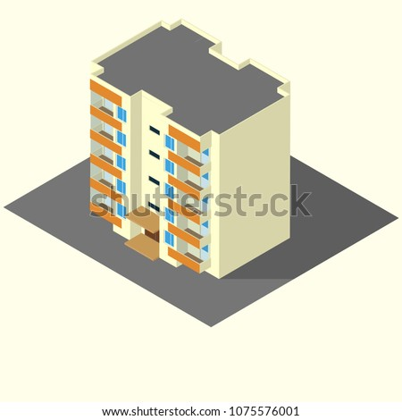 residential building isometric