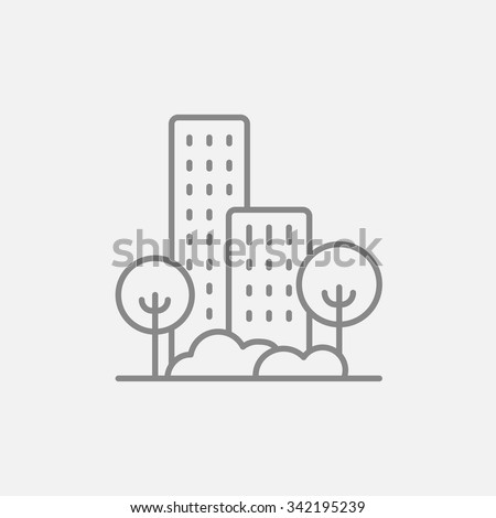 residential building with trees