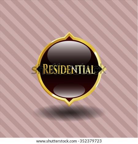Residential gold emblem or badge