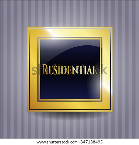 Residential golden emblem