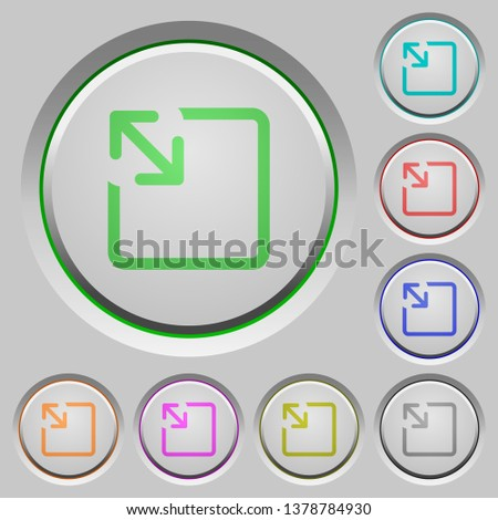Resize object color icons on sunk push buttons