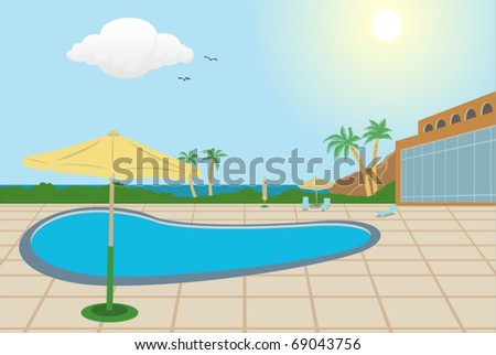 Resort Background-vector