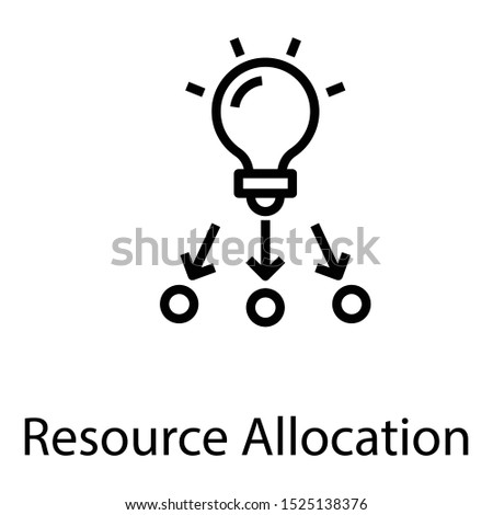 Resource allocation on white background