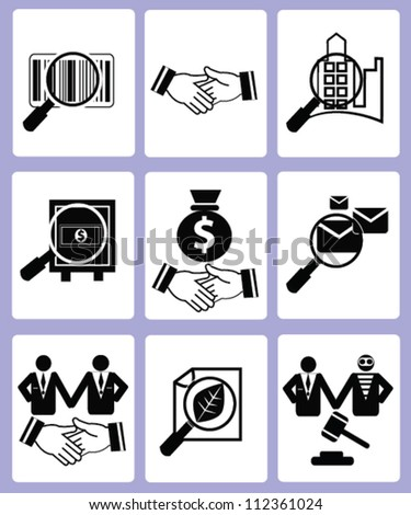 Resource finance and Business concept icon set,Vector