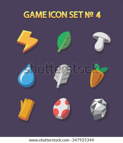 resource icons for games set