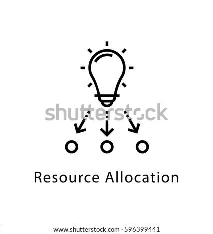 Resources Allocation Vector Line Icon