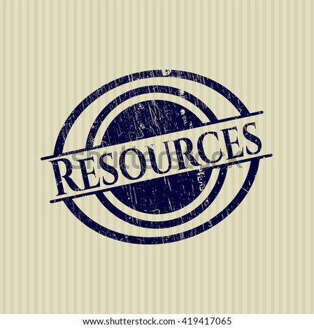 Resources grunge style stamp