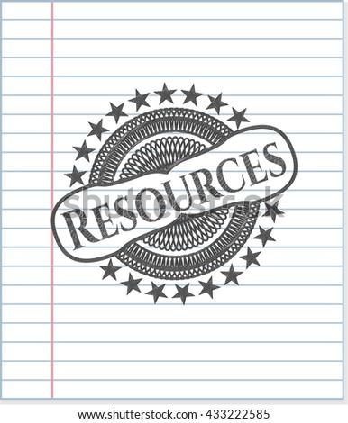 Resources pencil effect