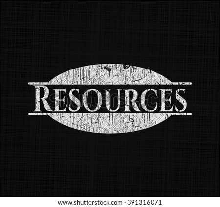 Resources written with chalkboard texture