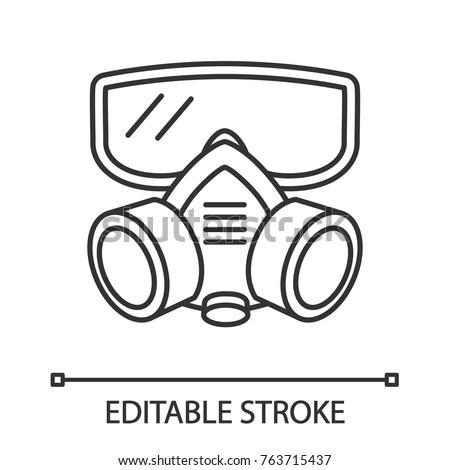 respirator linear icon gas
