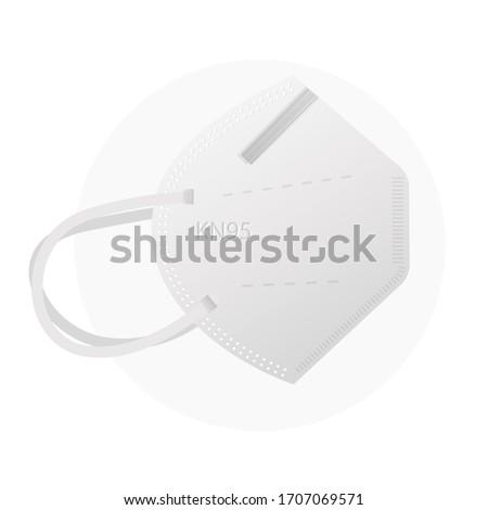 Respiratory Protective Mask - KN95 - Icon as EPS 10 File