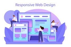 Responsive web design concept. Adaptive content presentation