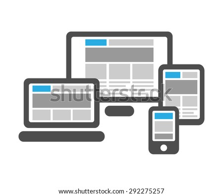 Responsive web design in digital devices