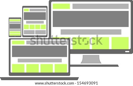 responsive web design shown on different devices