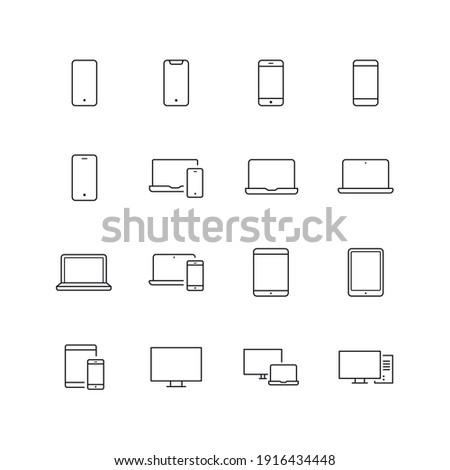 Responsive Webdesign Icon Set - Multiple Devices Vector - Website Symbols
