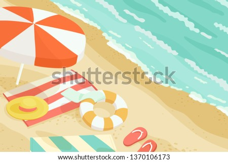 Rest at the Seaside, Vector, Illustration