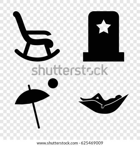 rest icons set set of 4 rest
