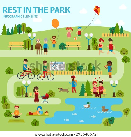 rest in the park infographic