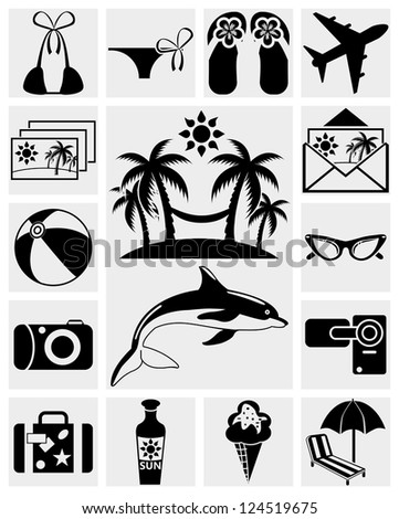 Rest, Travel and Summer icons