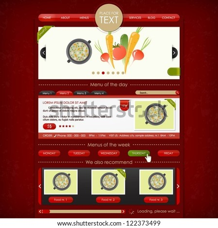 Restaurant and catering service website design template