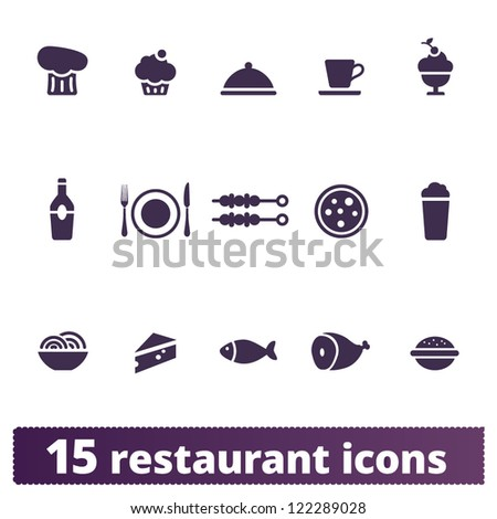 Restaurant and food icons: vector set