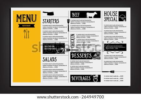Seafood Menu Templates - Download Free Vector Art, Stock Graphics ...