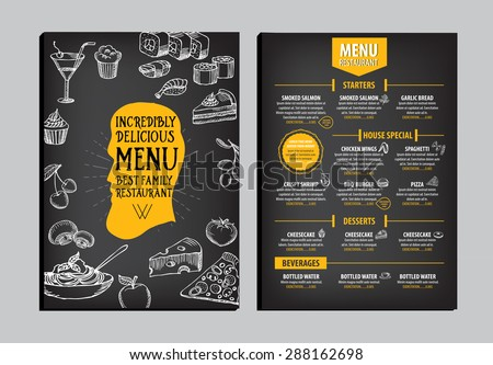 menu template design