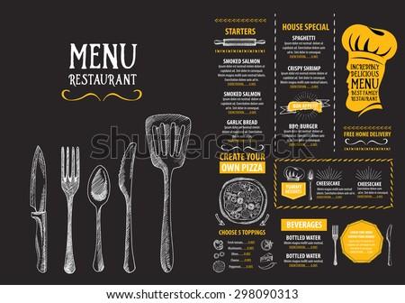 restaurant cafe menu  template