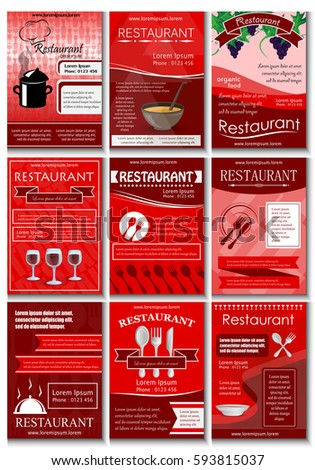 Sample Restaurant Brochure | Restaurant Colored Advertising Poster In Modern Style Vector