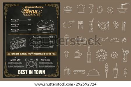 restaurant fast foods menu on
