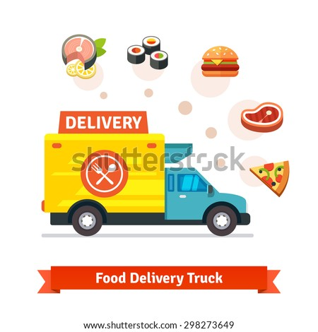 restaurant food delivery truck