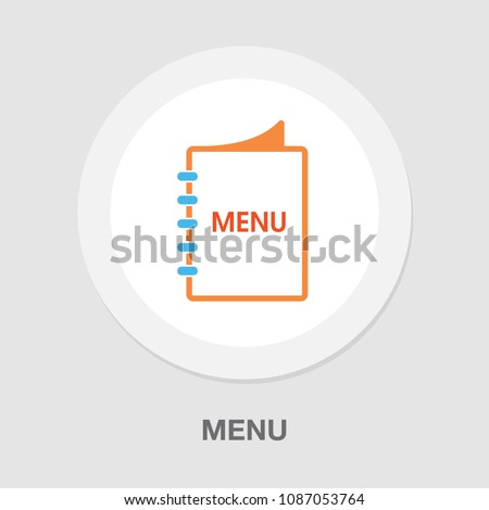 restaurant food menu, vector brochure template - lunch or dinner menu icon