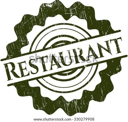 Restaurant grunge seal