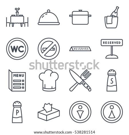 Restaurant Icon Line