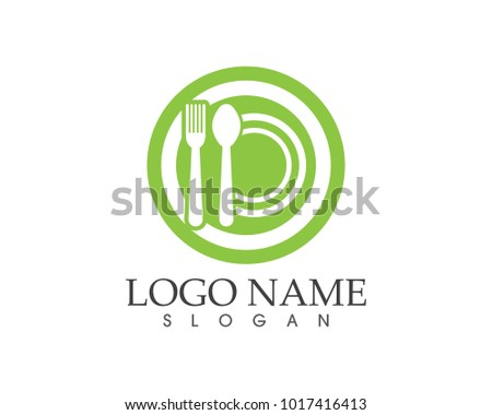 Restaurant icon logo design