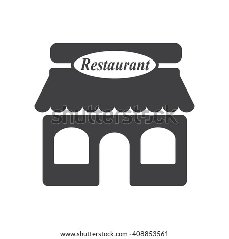 restaurant icon on the white background