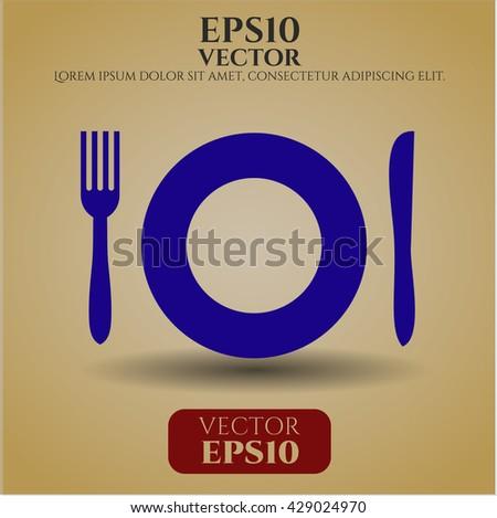 restaurant icon vector symbol flat eps jpg app web concept