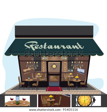 restaurant icon with a lot of details
