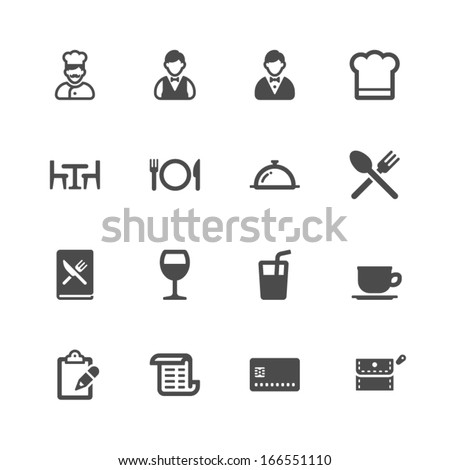 Restaurant icons - Shutterstock ID 166551110
