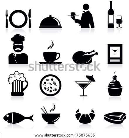 Restaurant icons - stock vector