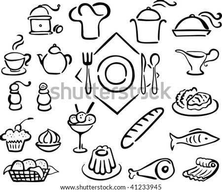 restaurant icons  set 1