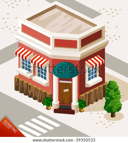 Restaurant Isometric
