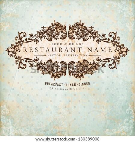 restaurant label design with...