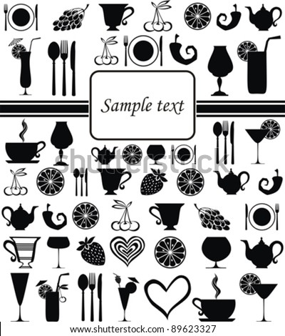 Food and drink seamless pattern vector illustration stock vector