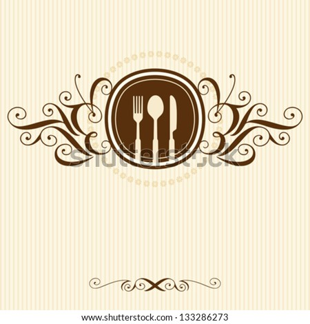 Restaurant menu card design stock vector illustration for Frequent diner card template