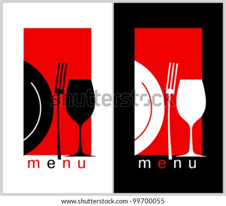 Restaurant Menu Card Design template Long format