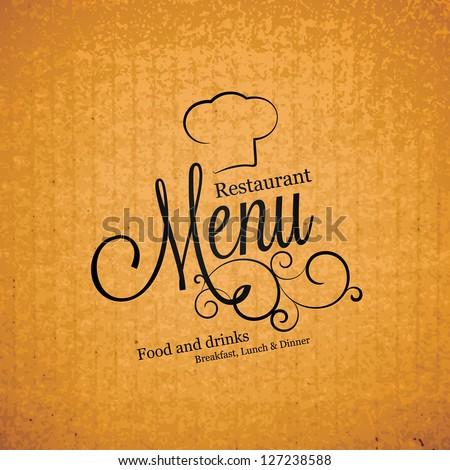 Restaurant menu design