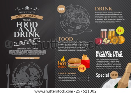 Royalty Free Stock Photos and Images: Restaurant menu design ...