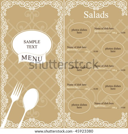 Restaurant menu design concept
